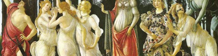 Sandro Botticelli (1445-1510), Os mistérios do amor e da morte (Primavera), 1482