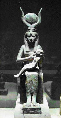 Ísis com Horus no colo