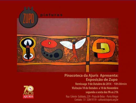 """Pinacoteca da Ajuris recebe a """"Exposição de Zupo"""" nesta quinta-feira, 9 de outubro"""