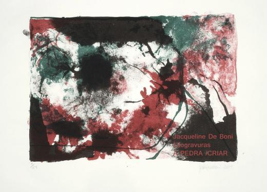 A PEDRA E EU, Litografias de Jacqueline De Boni na Pinacoteca da Ajuris